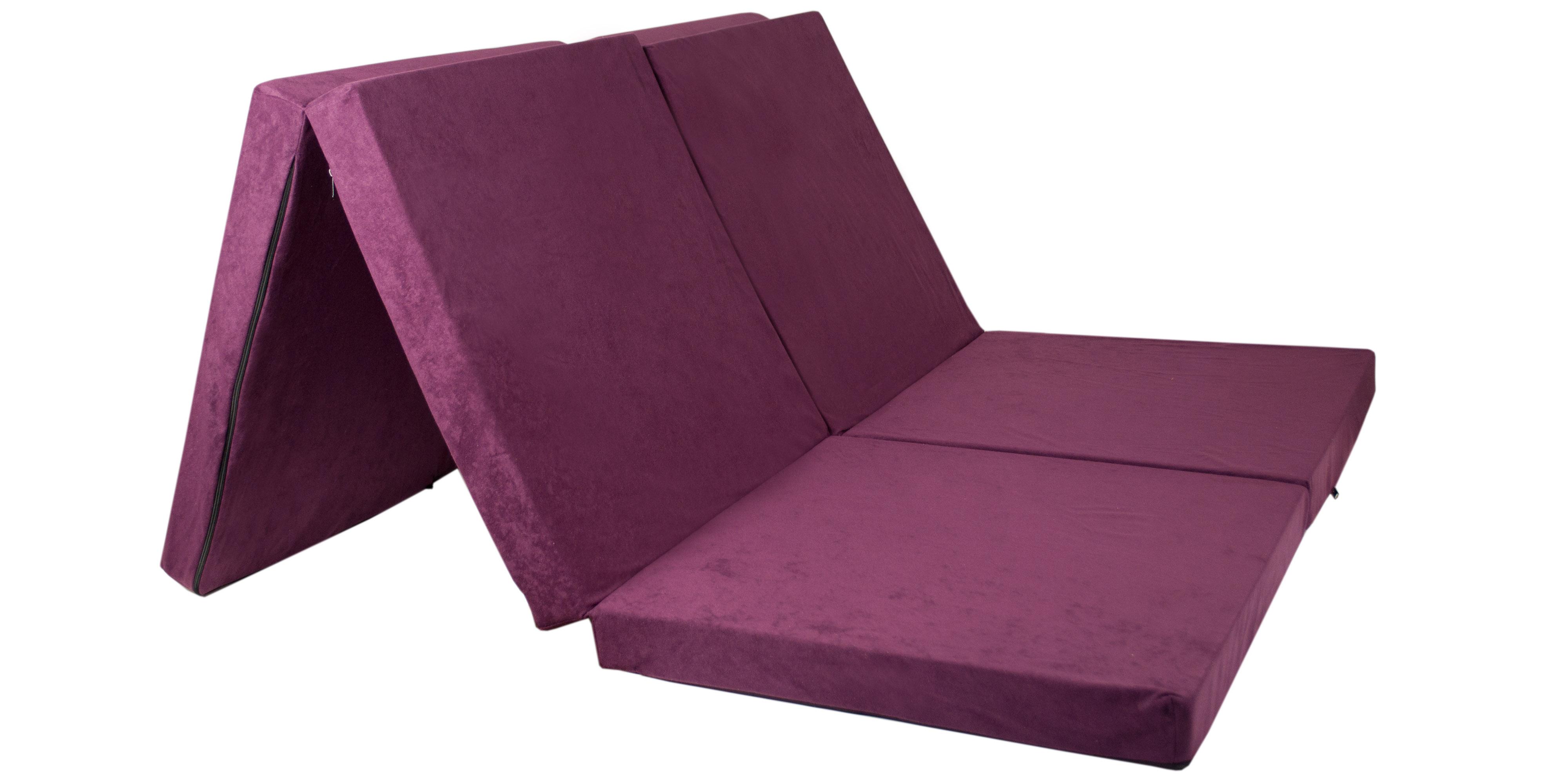 Fimex Skládací matrace pro hosty Duo fialová