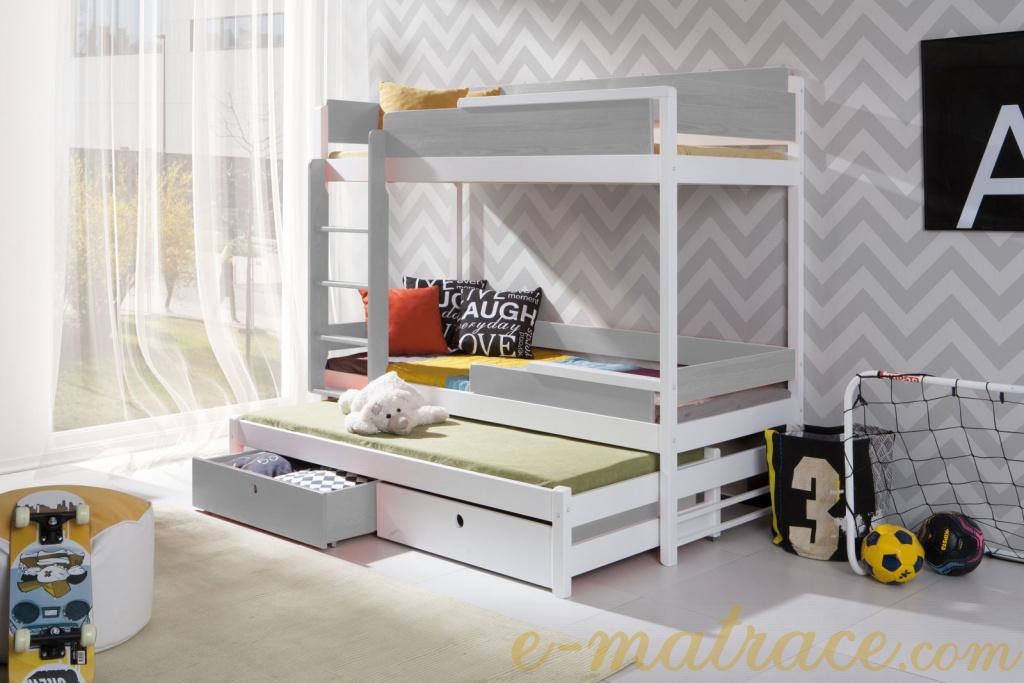 d1ec074b4813 Patrová postel Natu III - trojlůžko