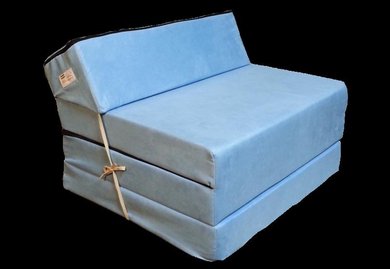 Natalia Rozkládací křeslo - matrace pro hosty světle modrá