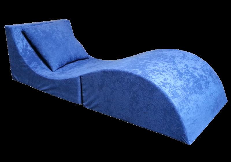 e-matrace.com Skládací relaxační křeslo | Lehátko | Taburet | modré