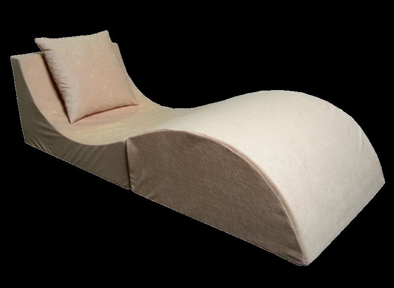 e-matrace.com Skládací relaxační křeslo | Lehátko | Taburet | béžové