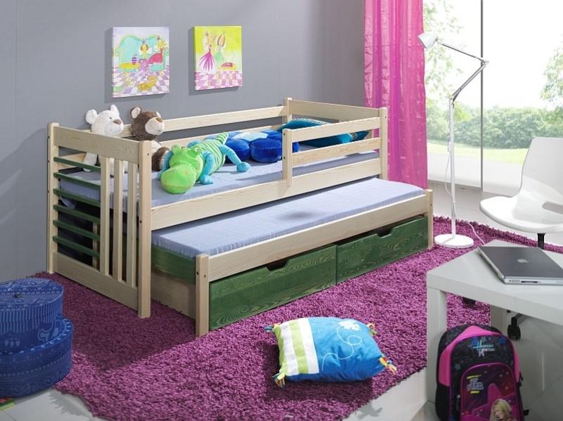 MebloBed Rozkládací postel Šimon s úložným prostorem