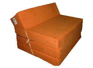 Natalia Rozkládací křeslo - matrace pro hosty oranžová