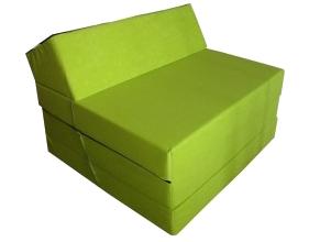 Natalia Rozkládací křeslo - matrace pro hosty zelená