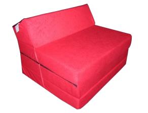 Natalia Rozkládací křeslo - matrace pro hosty červená