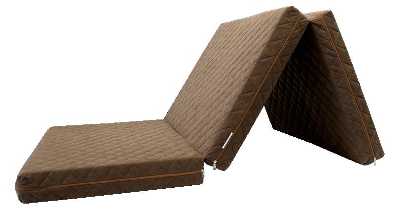 e-matrace.com Skládací matrace Deluxe Chocolate - 90x195x10 cm