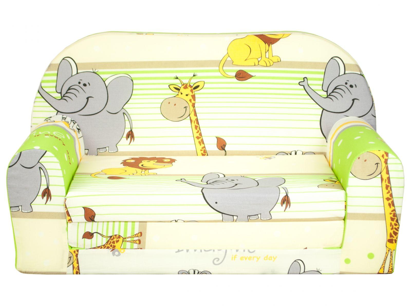 Fimex Dětská rozkládací mini pohovka Zoo II