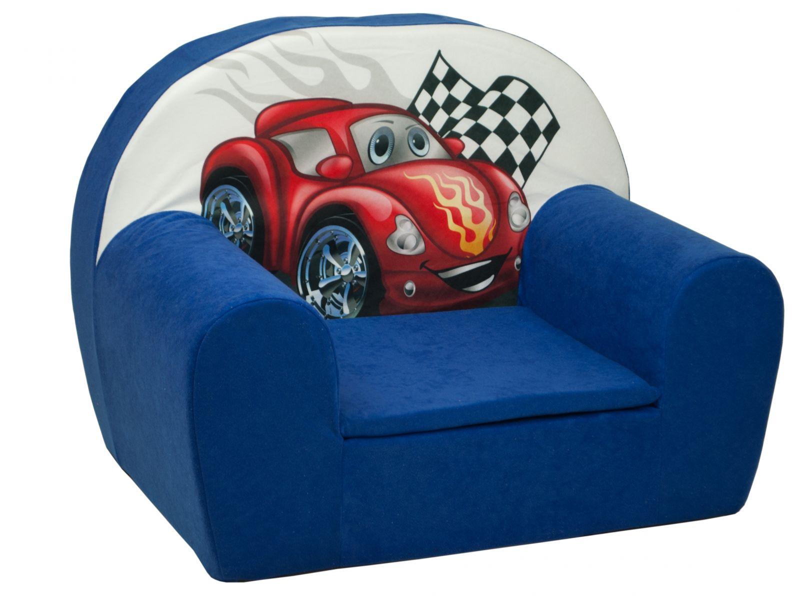 Fimex Dětské křesílko Auto modré
