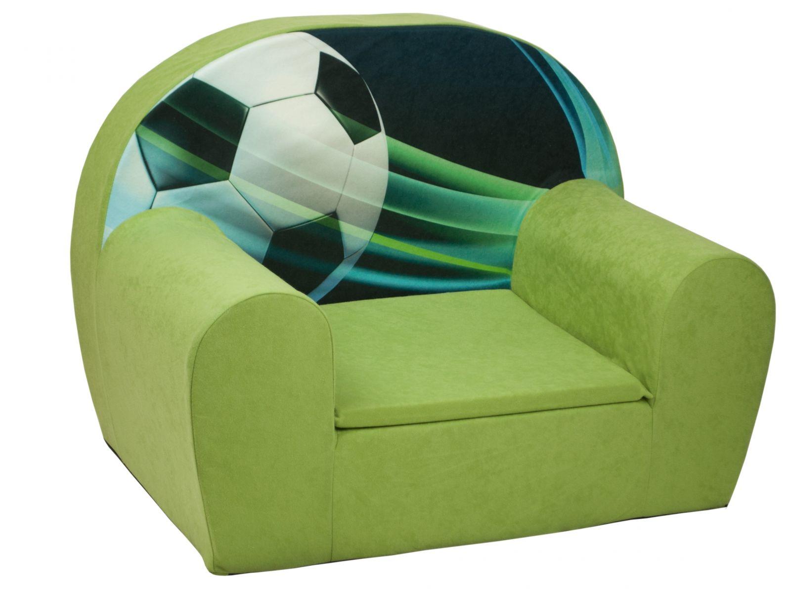 Fimex Dětské křesílko Fotbal zelené