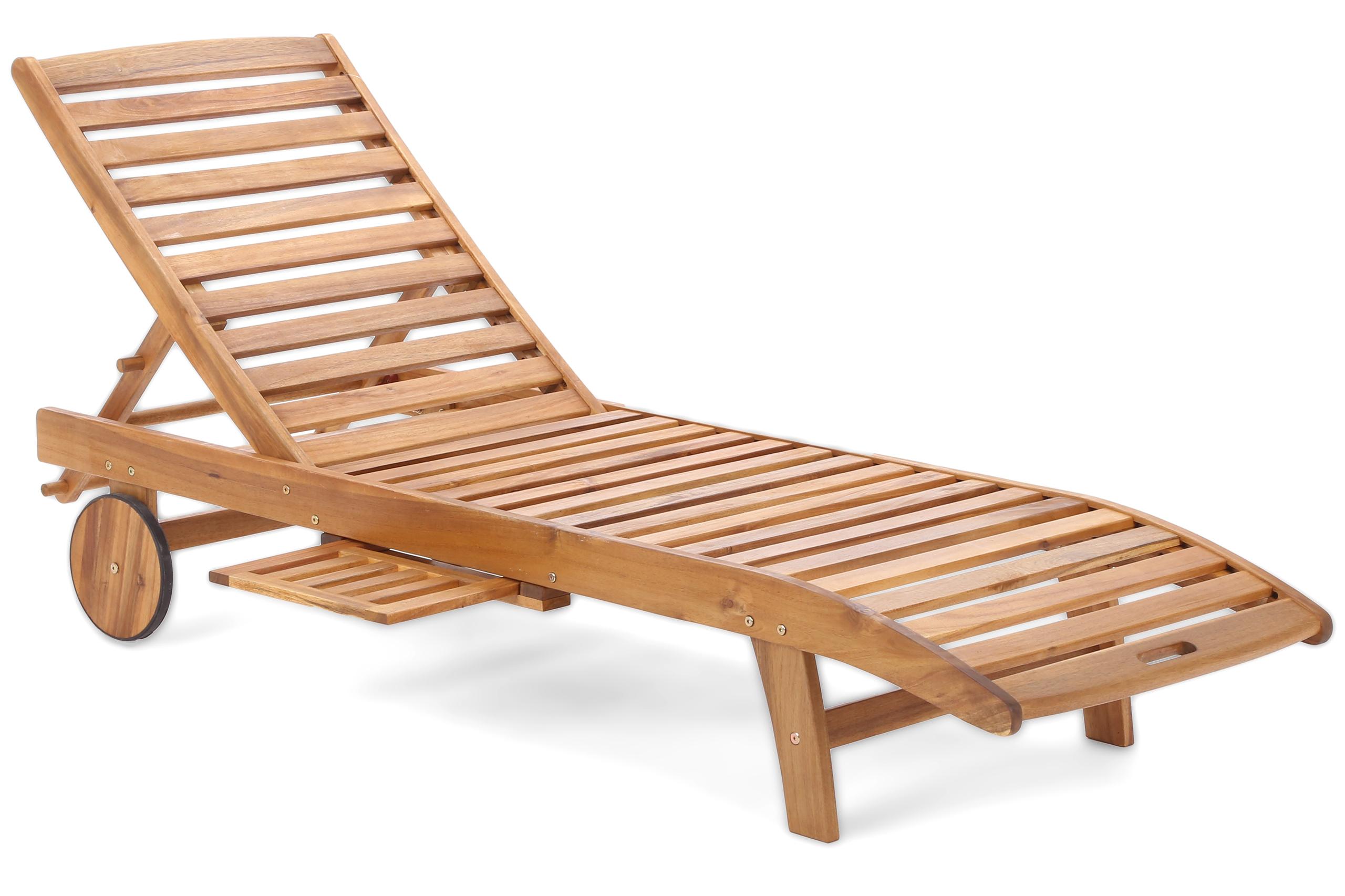 Home&Garden Dřevěné zahradní lehátko Lux