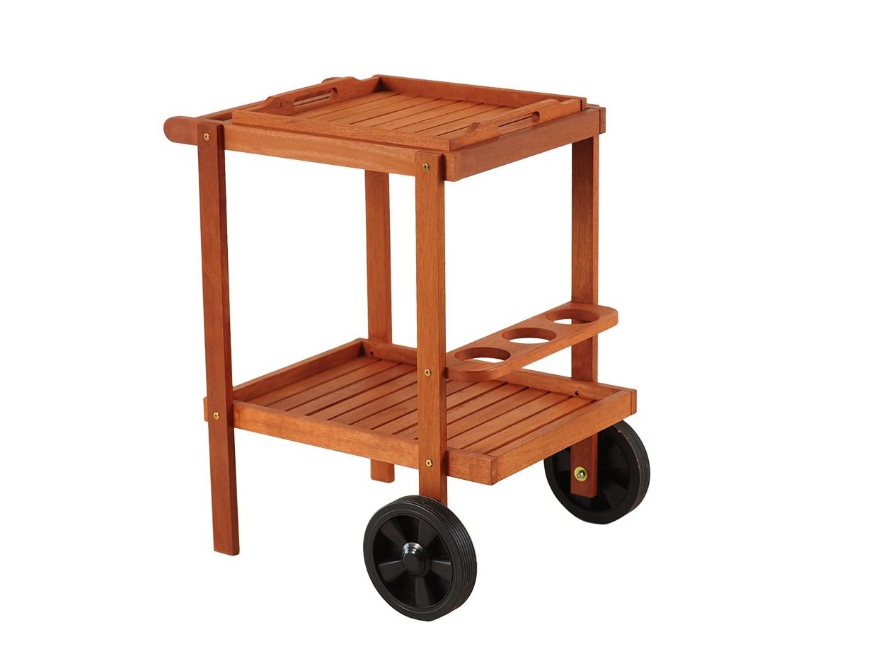 Home&Garden Dřevěný servírovací stolek Meranti