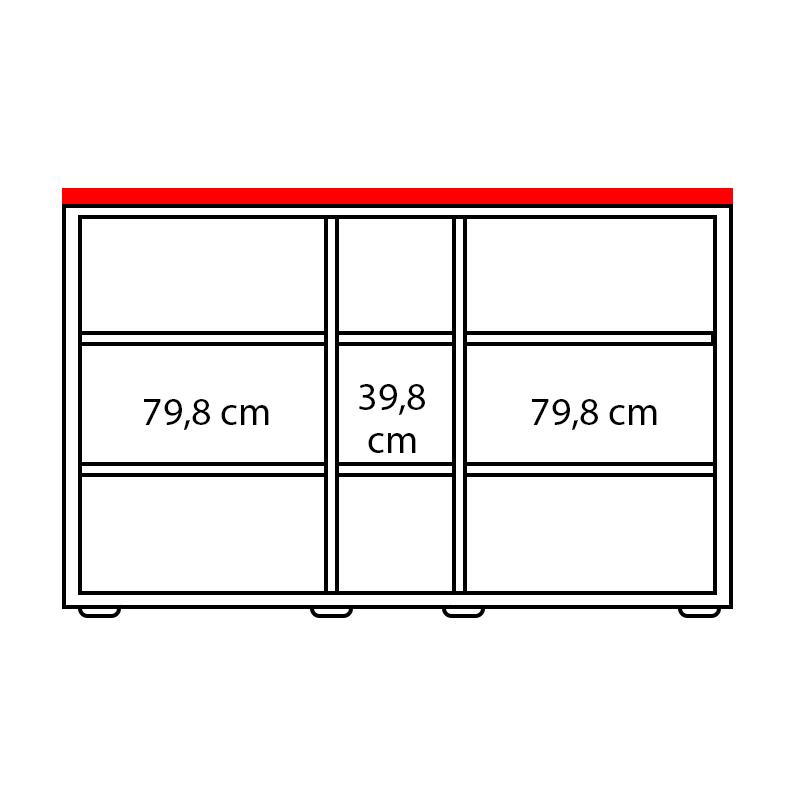 Lenza Horní obkladová deska Wels Š 207,4 cm