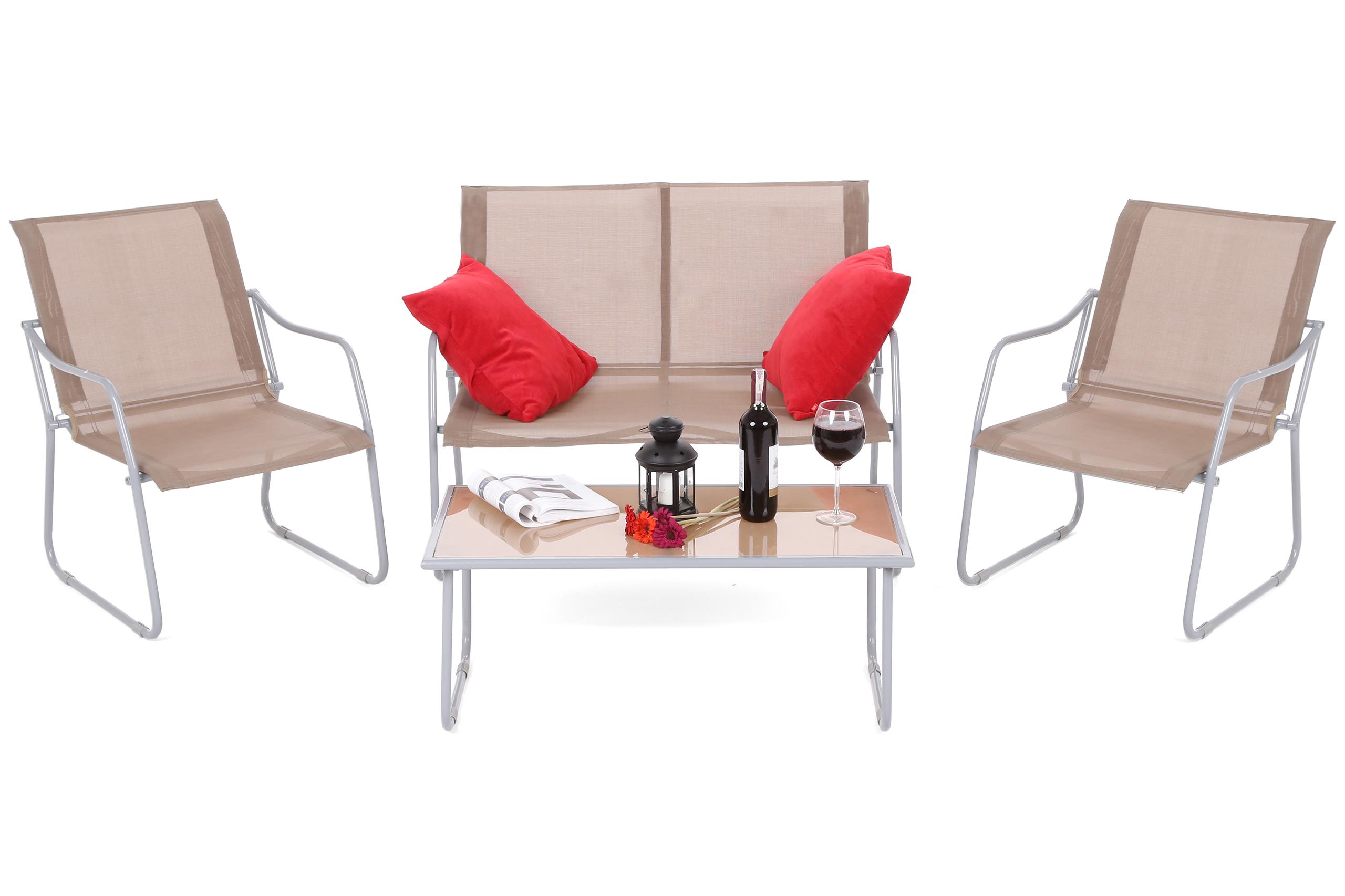 Home&Garden Kávová sestava Cappuccino Silver / Taupe