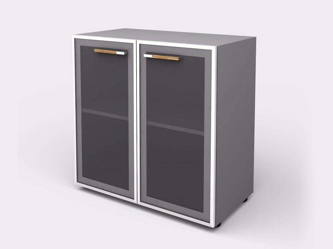 Lenza Policová skříň Wels se skleněnými dveřmi 80 cm