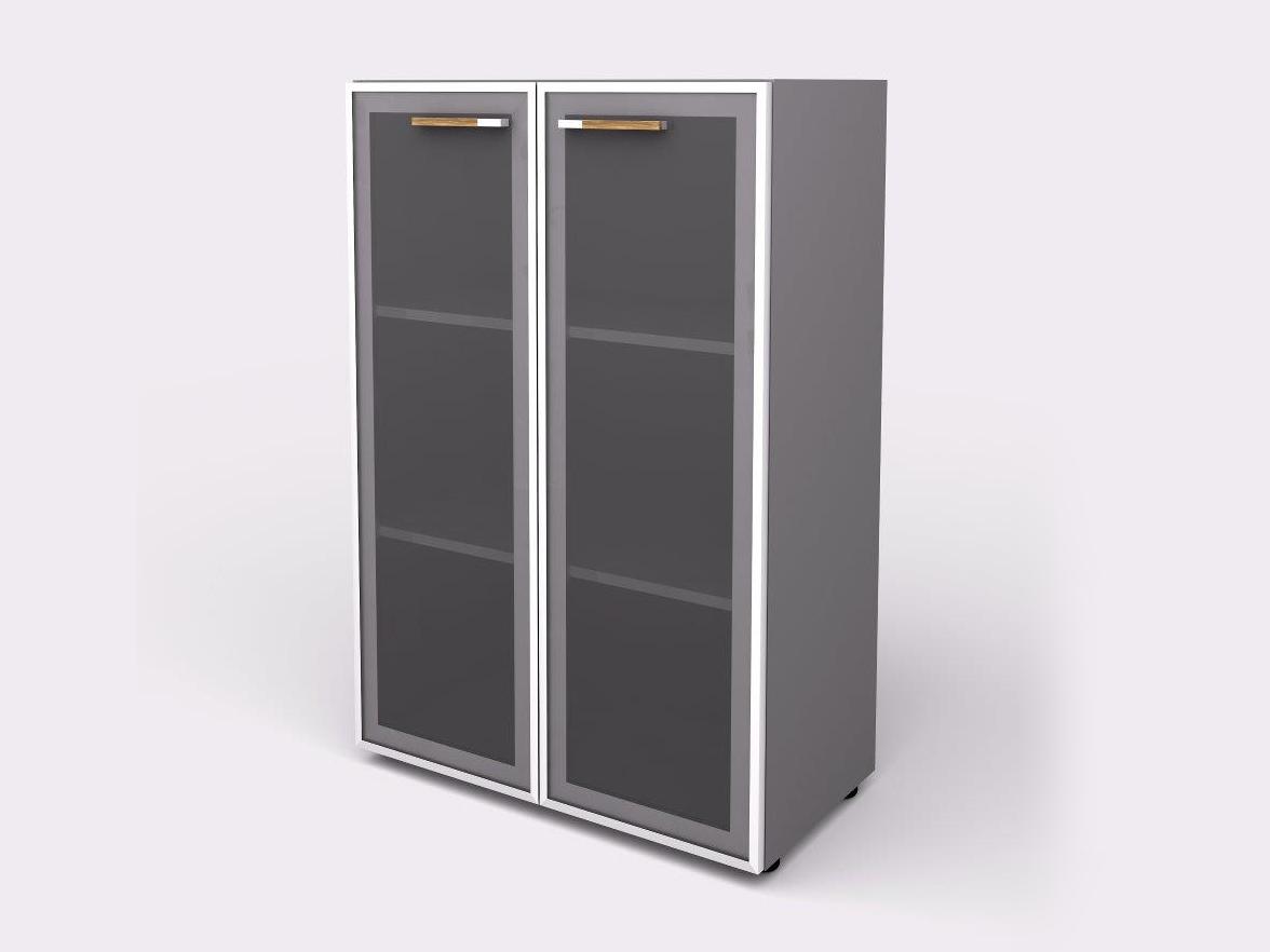 Lenza Policová skříň Wels se skleněnými dveřmi 119,5 cm