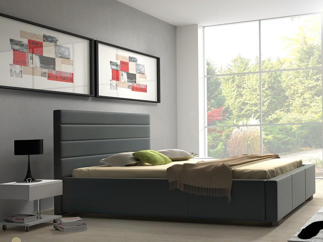 Meble Marzenie Postel Sylvi 120x200 cm, standardní čelo 106 cm, verze standard, bez úložného prostoru, nožky chrom, Casablanca 2316