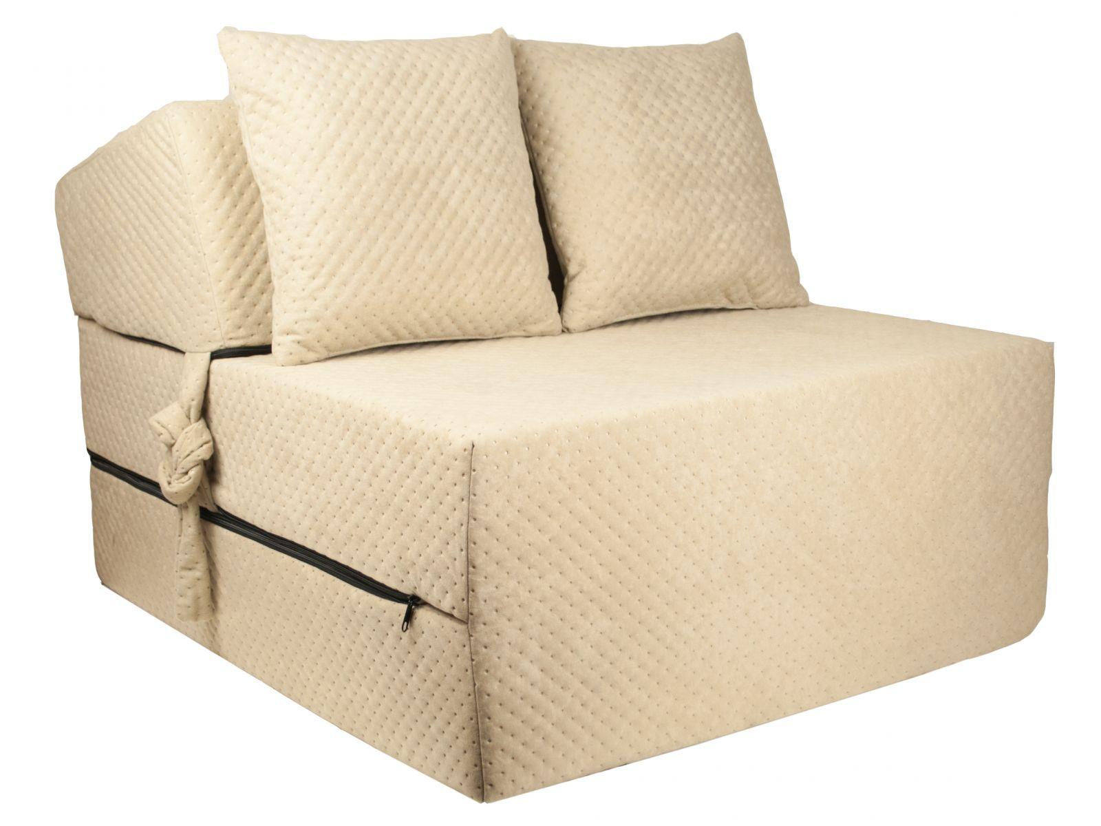 Fimex Rozkládací křeslo - matrace pro hosty Comfort béžové