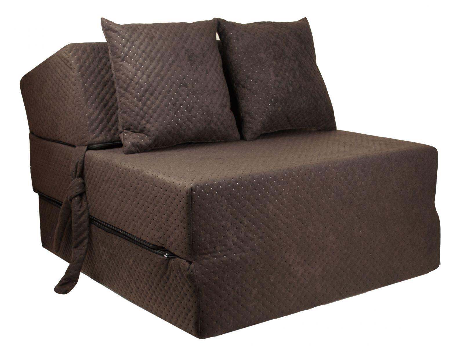 Fimex Rozkládací křeslo - matrace pro hosty Comfort hnědé