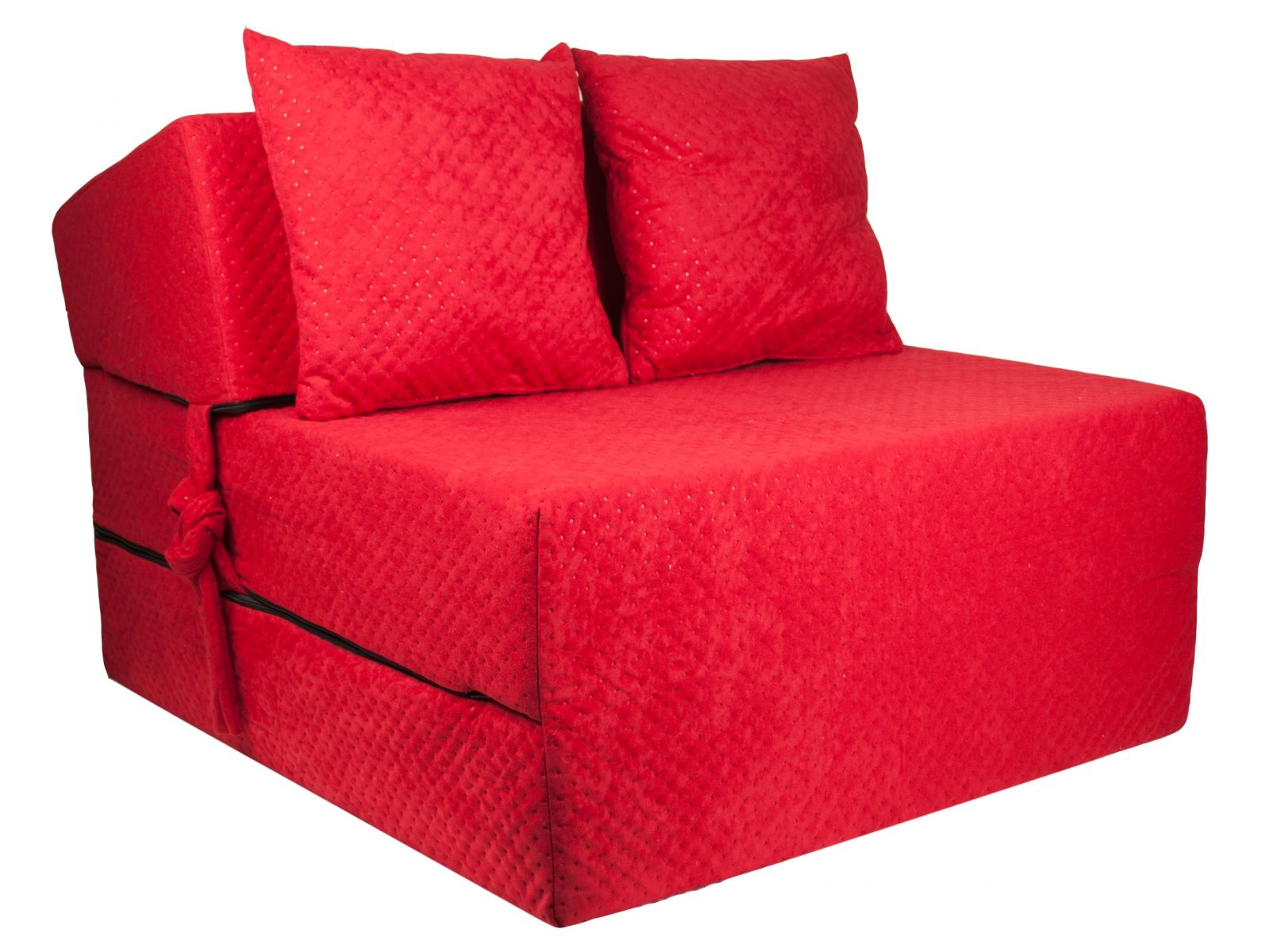 Fimex Rozkládací křeslo - matrace pro hosty Comfort červené