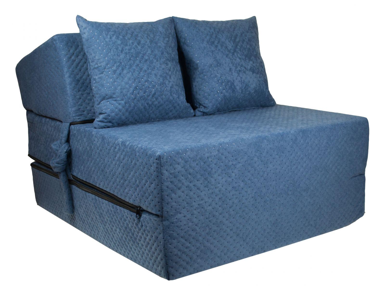 Fimex Rozkládací křeslo - matrace pro hosty Comfort tmavě modré