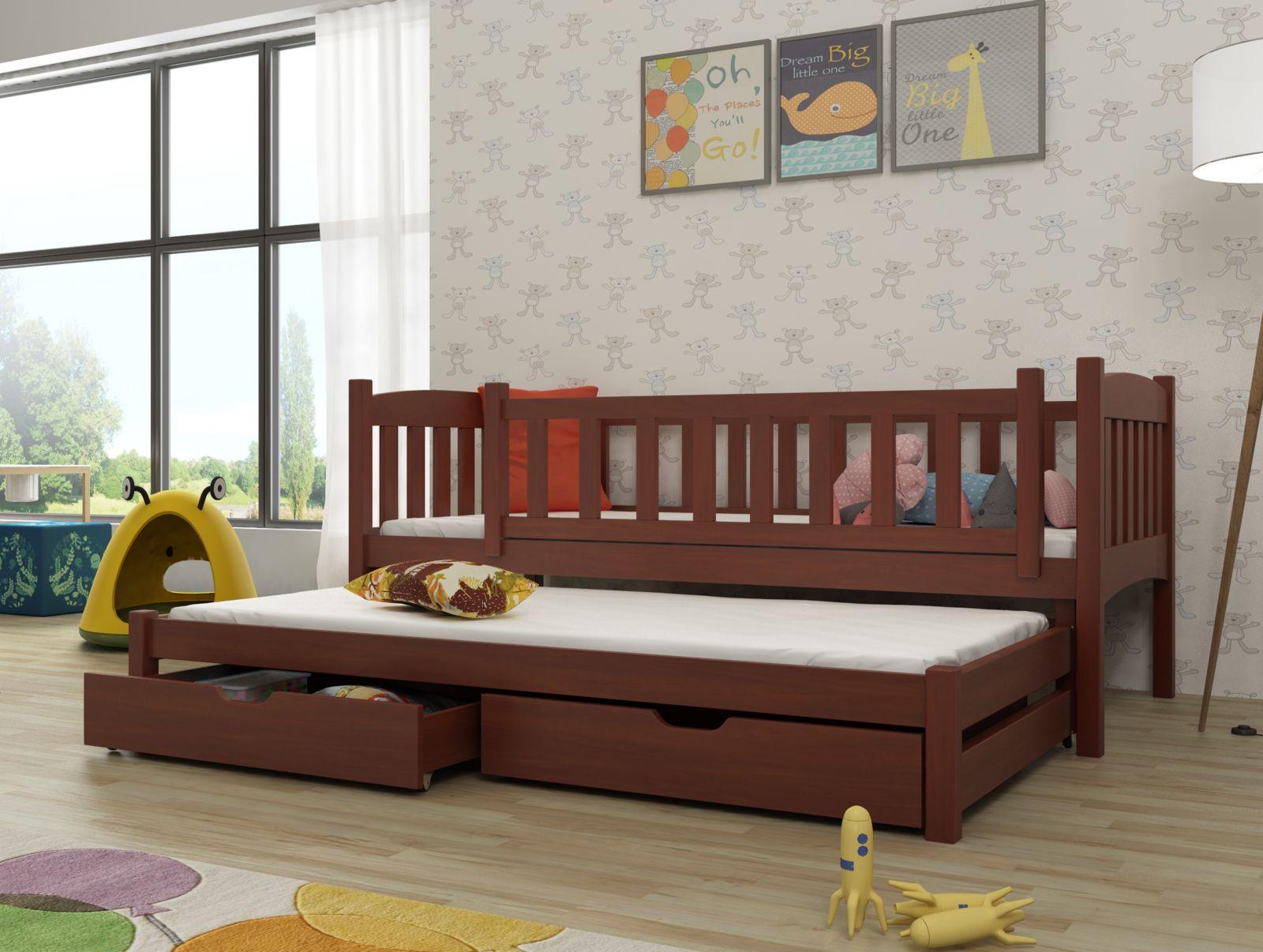 Lano Meble Rozkládací postel Amelka s úložným prostorem