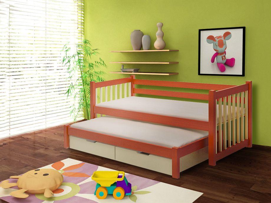 MebloBed Rozkládací postel Kajetán s úložným prostorem