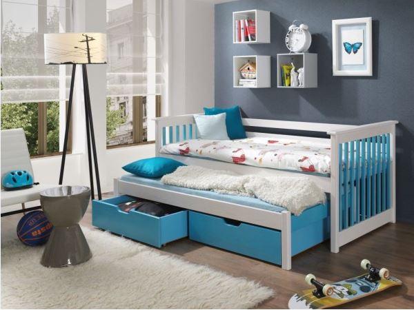MebloBed Rozkládací postel Syrius s úložným prostorem