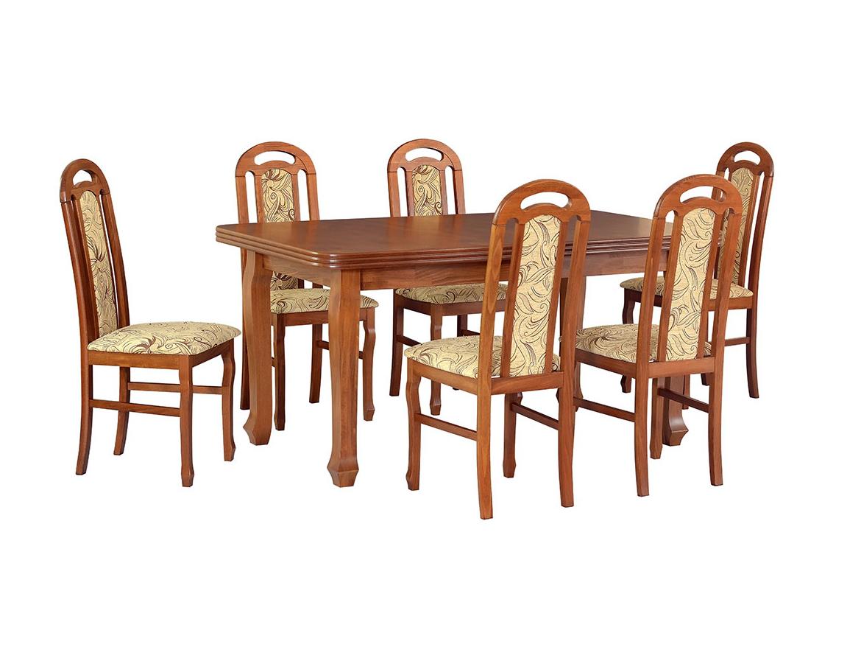 DREWMIX Sestava stůl Ludwik I + židle Piano I