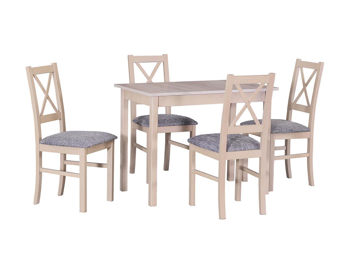 DREWMIX Sestava stůl Max I + židle Nilo X