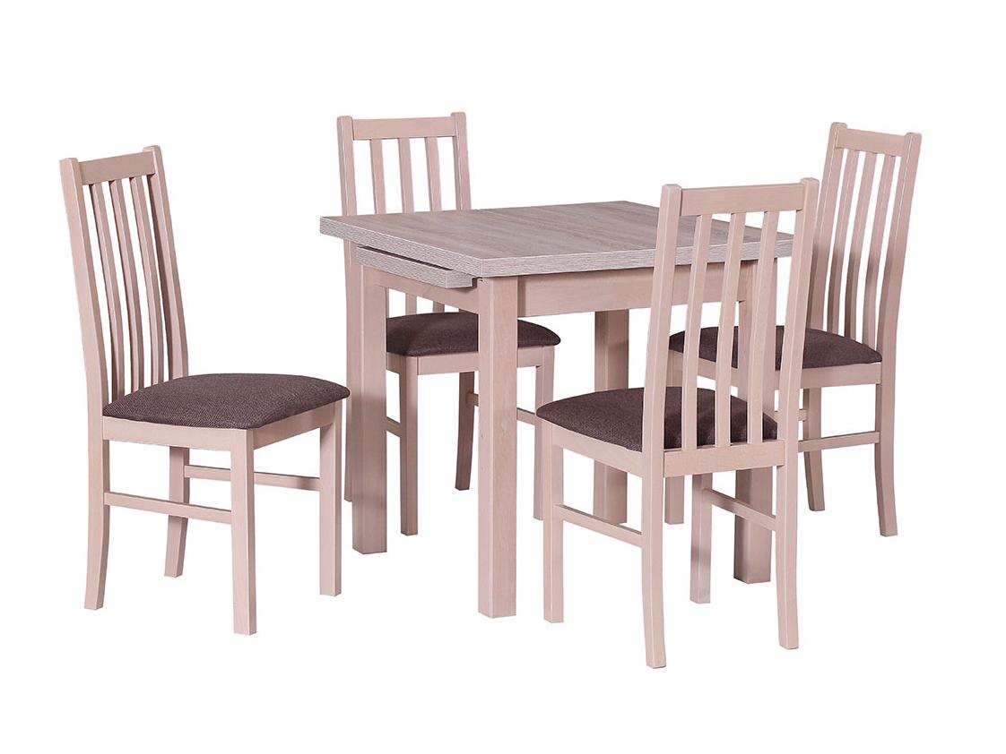 DREWMIX Sestava stůl Max VII + 4 ks židle Boss X