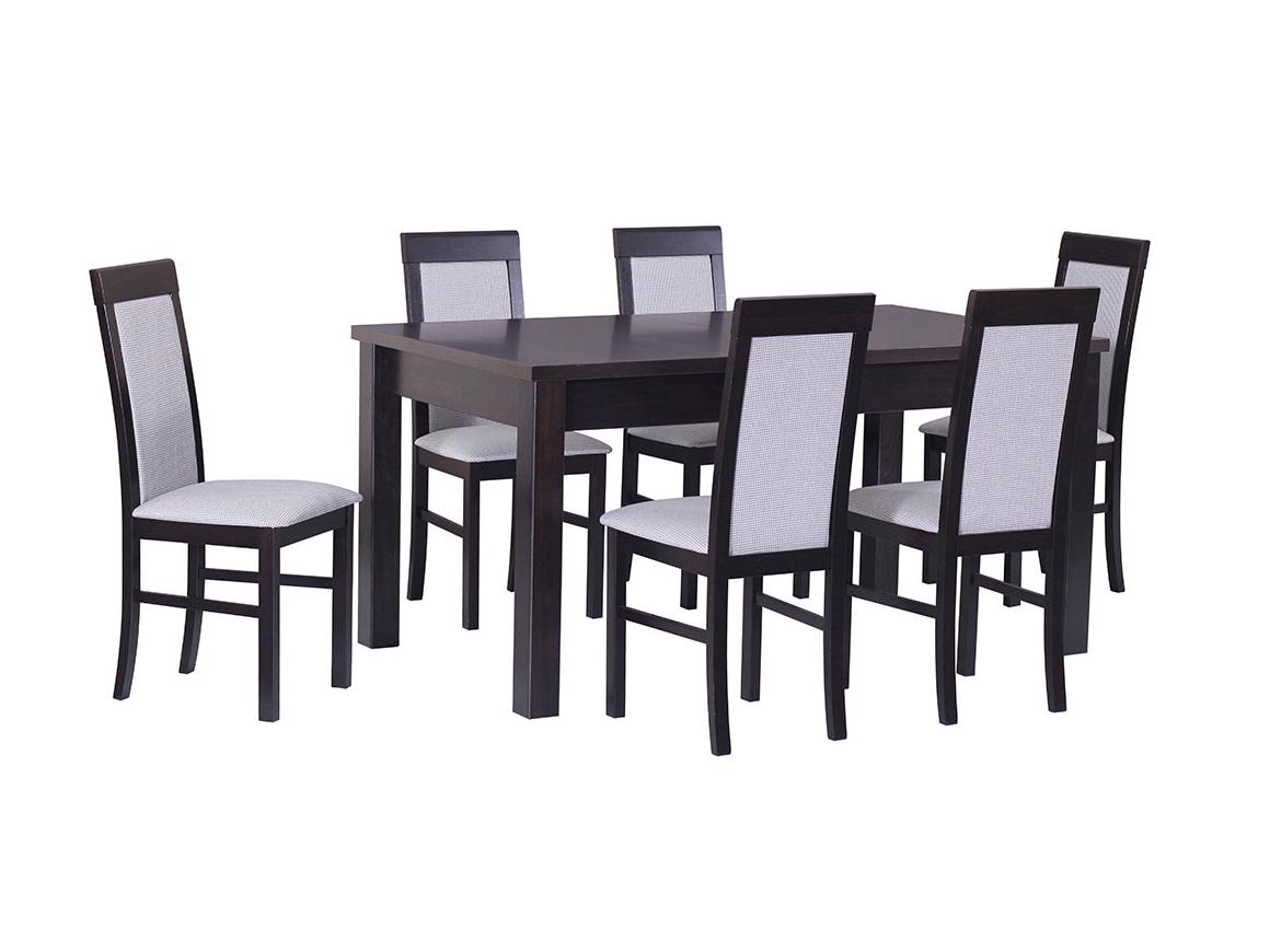 DREWMIX Sestava stůl Modena IV + židle Nilo VI