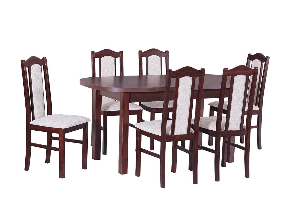 DREWMIX Sestava stůl Wenus I + židle Boss II