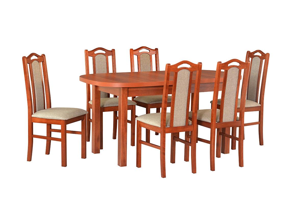 DREWMIX Sestava stůl Wenus I + židle Boss IX