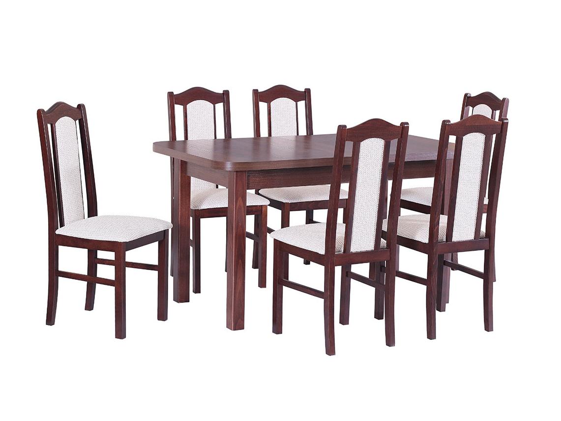DREWMIX Sestava stůl Wenus II L + židle Boss II