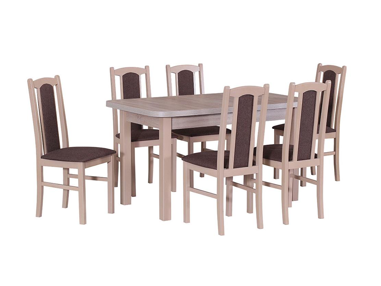 DREWMIX Sestava stůl Wenus II L + židle Boss VII