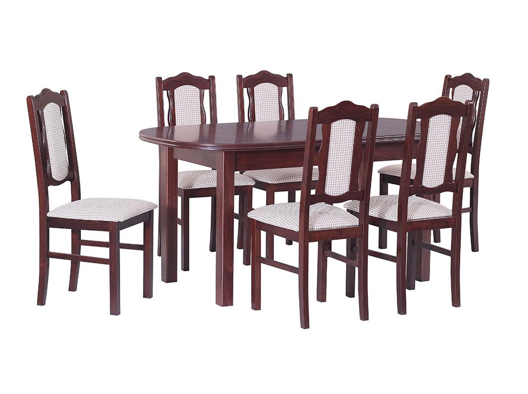 DREWMIX Sestava stůl Wenus III + 6 ks židle Boss VI