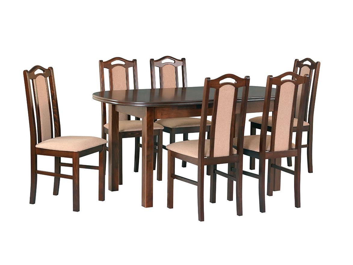 DREWMIX Sestava stůl Wenus III + židle Boss IX
