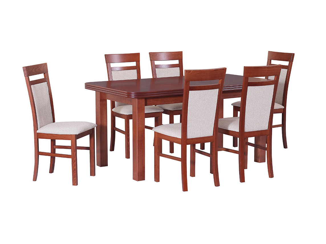 DREWMIX Sestava stůl Wenus V + židle Milano VI