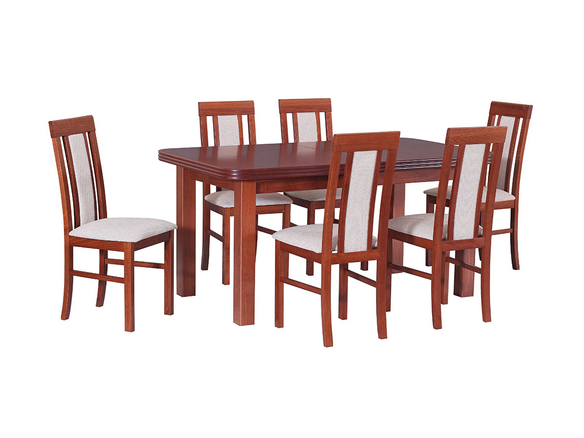 DREWMIX Sestava stůl Wenus V + židle Nilo II