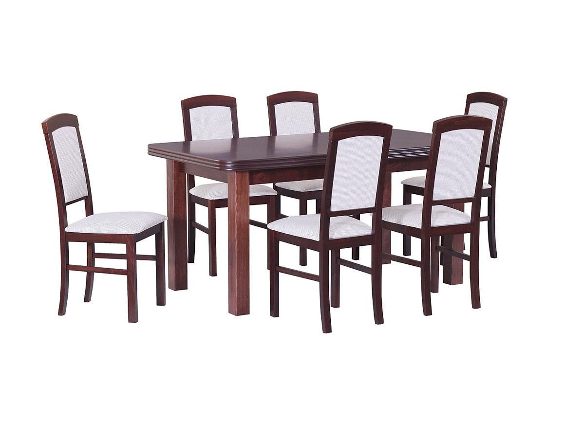 DREWMIX Sestava stůl Wenus V + židle Nilo IV