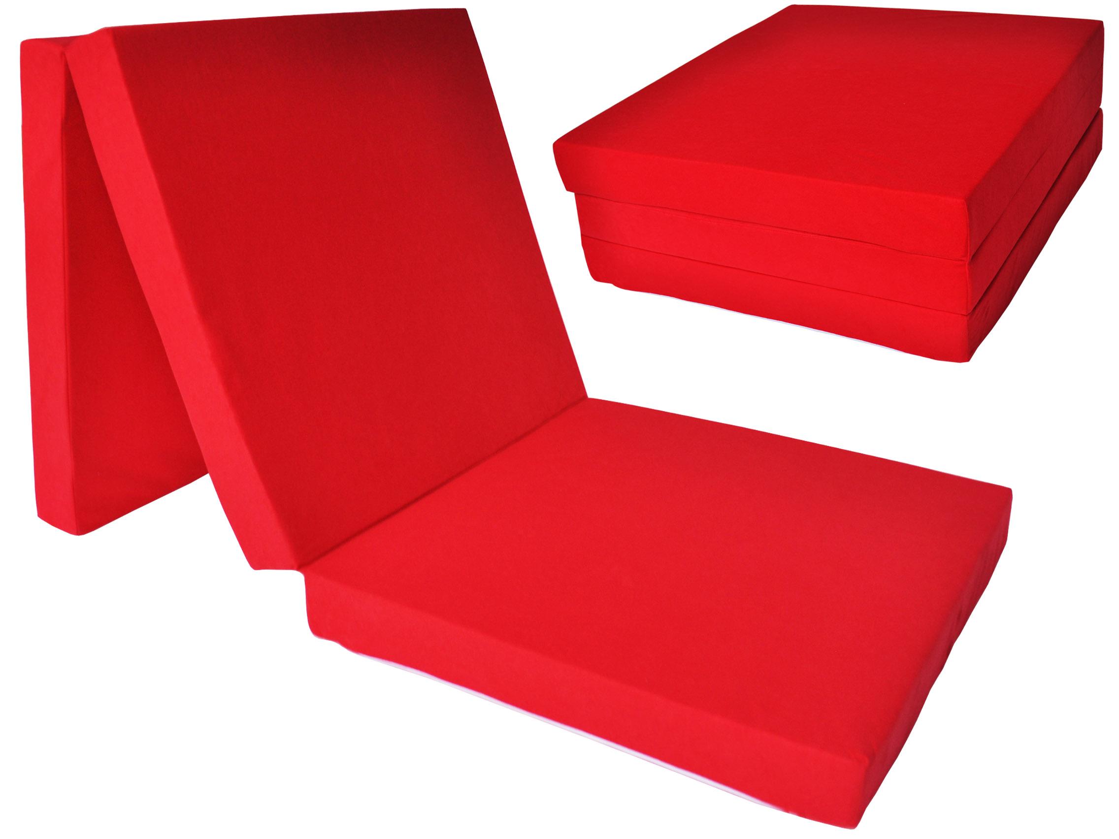 Fimex Skládací matrace pro hosty Fun červená