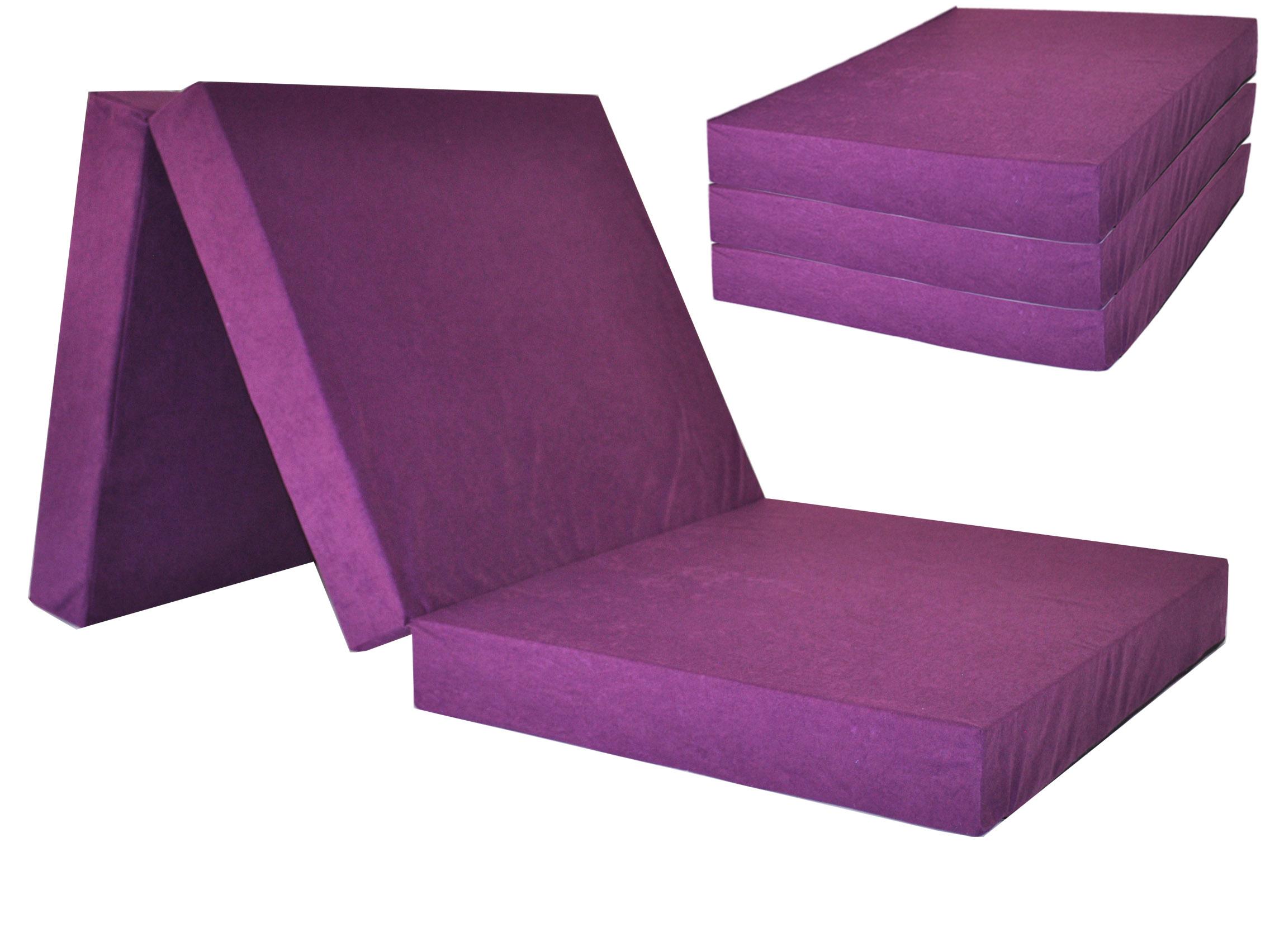 Fimex Skládací matrace pro hosty Fun fialová