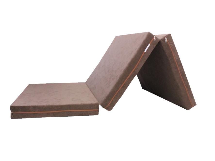 e-matrace.com Skládací matrace pro hosty hnědá 10 cm