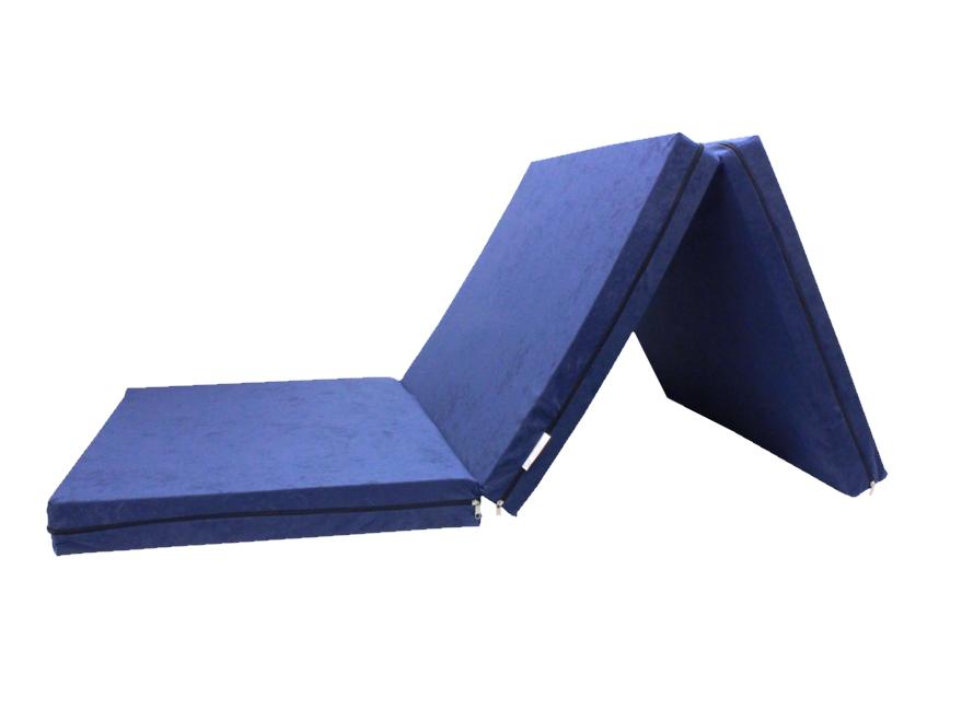e-matrace.com Skládací matrace pro hosty modrá 8 cm