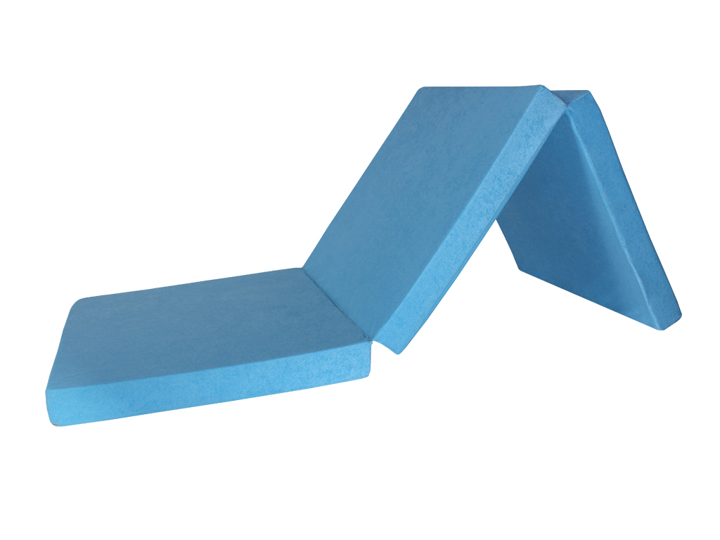 Natalia Skládací matrace 65x195x8 cm světle modrá