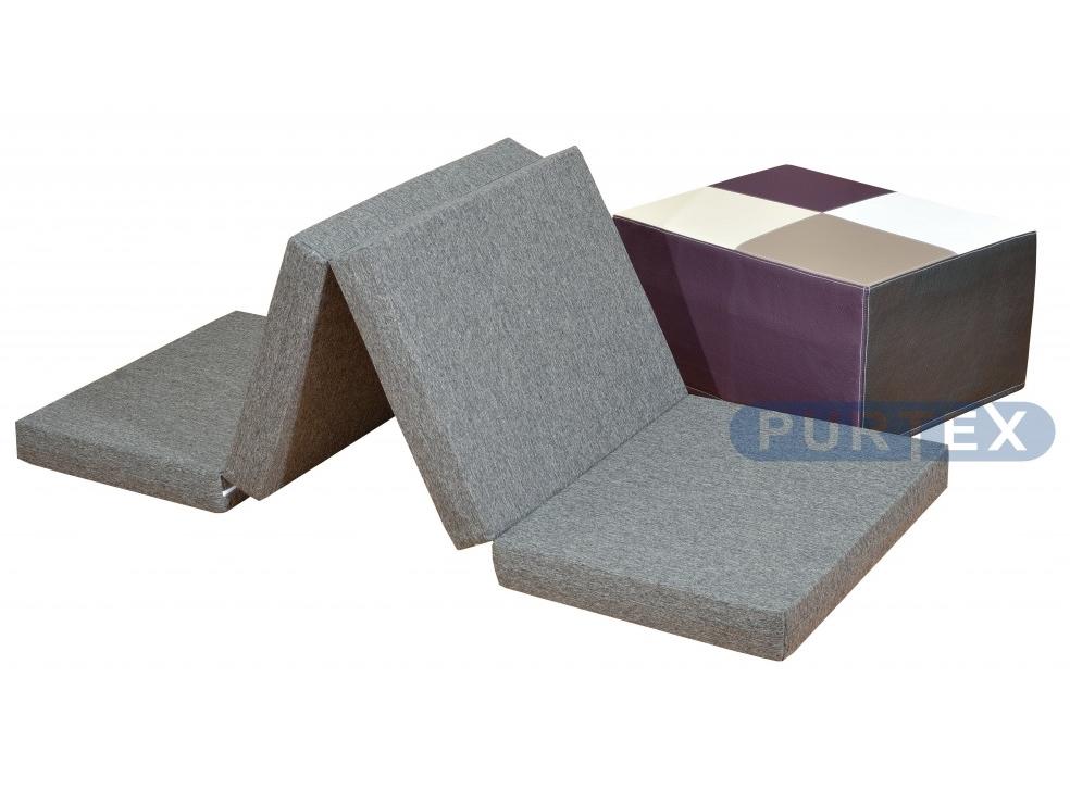 Purtex Skládací matrace - taburet 65x200x8 cm