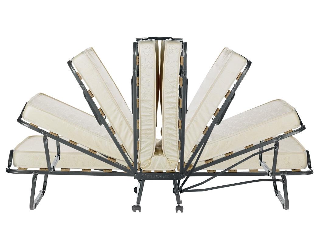 Veraflex Skládací postel Luxor 90x200 cm - antracit