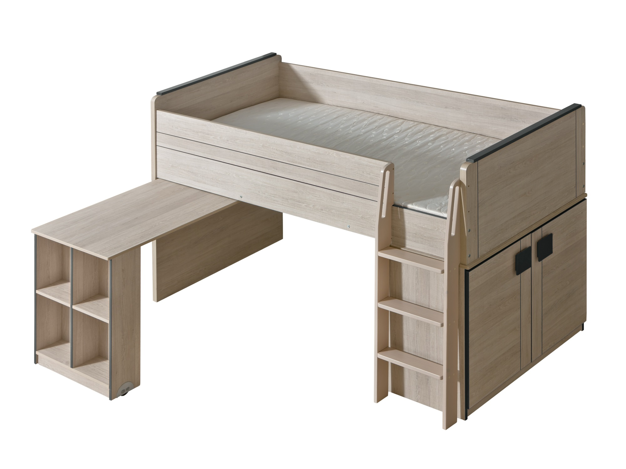 Dolmar Vyvýšená postel Gumi G15 s výsuvným stolkem