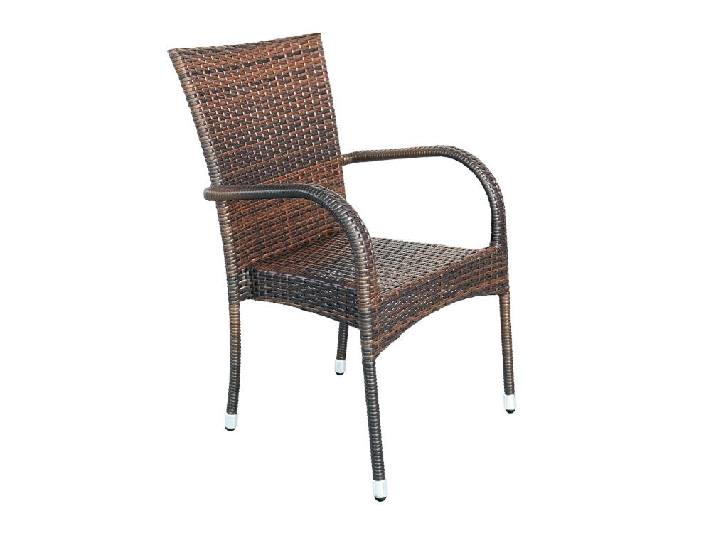 Home&Garden Zahradní ratanová židle Mori Brown